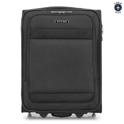 Bőrönd + laptoptáska, fekete, 56-3S-580-90, Fénykép 1