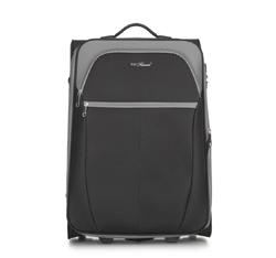 Közepes bőrönd, fekete-szürke, V25-3S-232-01, Fénykép 1