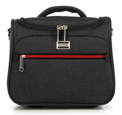 Kozmetikai táska színes cipzárral, fekete-szürke, 56-3S-504-12, Fénykép 1