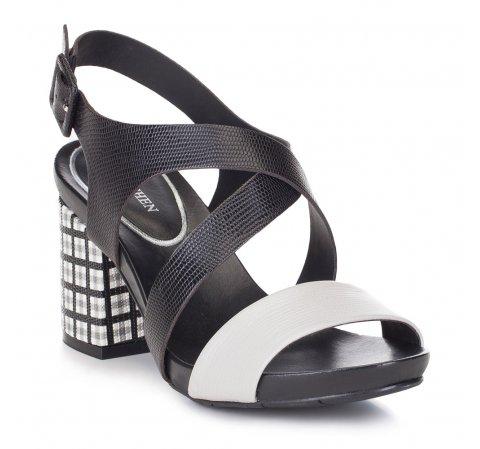 Női cipő, fekete-szürke, 88-D-558-1-38, Fénykép 1