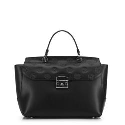 Bőrönd típusú női táska, fekete, 91-4E-608-1, Fénykép 1