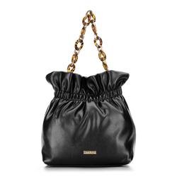Zsák táska kicsi lánccal, fekete, 92-4Y-609-1, Fénykép 1
