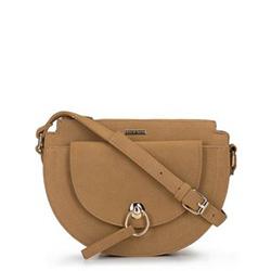 Félhold alakú női táska, bézs-arany, 92-4Y-316-5W, Fénykép 1