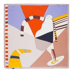Hedvábný šátek, fialovo-oranžová, 93-7D-S01-54, Obrázek 1