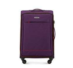 Střední cestovní kufr, fialovo-oranžová, 56-3S-462-44, Obrázek 1