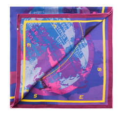 Dámský šátek, fialovo-růžová, 85-7D-S21-X4, Obrázek 1