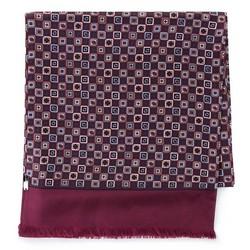 Pánská hedvábná šála, fialovo-šedá, 93-7M-S41-1, Obrázek 1