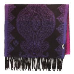 Женский шарф с орнаментом, фиолетово- черный, 91-7D-X26-X1, Фотография 1