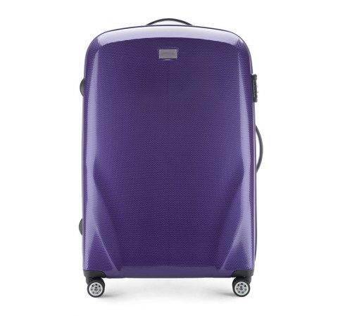 Большой чемодан, фиолетовый, 56-3P-573-35, Фотография 1