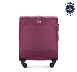 Чемодан ручная кладь, фиолетовый, 56-3S-531-44, Фотография 1