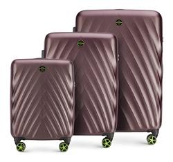 Комплект чемоданов, фиолетовый, 56-3P-80S-44, Фотография 1