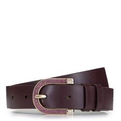 Женский кожаный ремень с металлической пряжкой, фиолетовый, 92-8D-302-2-XL, Фотография 1