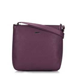 Женская сумка через плечо с тиснением, фиолетовый, 91-4Y-625-V, Фотография 1