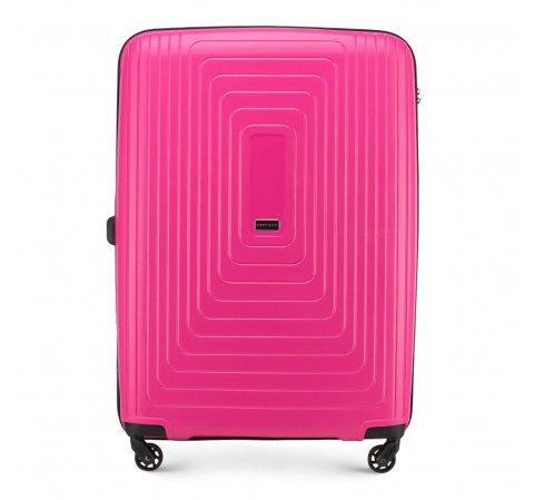 Nagy bőrönd polipropilén geometrikus minta WITTCHEN, Fukszia, 56-3T-783-30, Fénykép 1