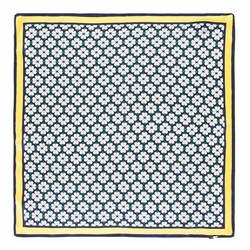 SEIDENTUCH, gelb - dunkelblau, 93-7D-S01-39, Bild 1