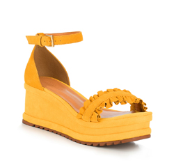 Frauen Schuhe, gelb, 88-D-712-Y-35, Bild 1