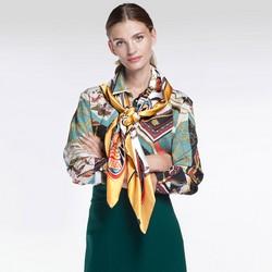 Damen Schal, gelb - weiß, 86-7D-S31-X01, Bild 1