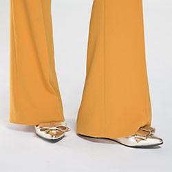 Damenschuhe, gold, 86-D-603-G-35, Bild 1