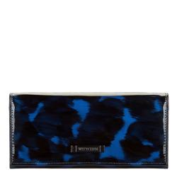 Женский кожаный кошелек черепаховой расцветки, голубо- черный, 26-1-418-7, Фотография 1