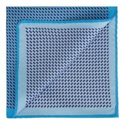 Карманный платок из шелка с рисунком, голубо-синий, 91-7P-001-X5, Фотография 1