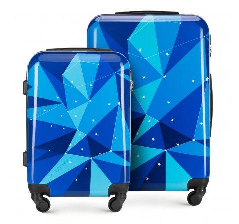 Современный комплект чемоданов из ABS-пластика, голубой, 56-3A-64S-80, Фотография 1