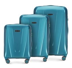 Комплект чемоданов, голубой, 56-3P-12S-95, Фотография 1