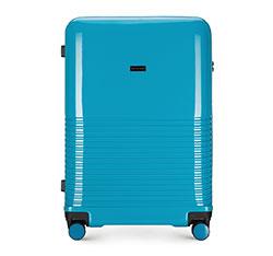 Большой чемодан, голубой, 56-3H-573-90, Фотография 1