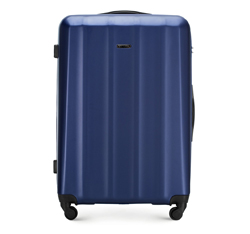 Большой чемодан, голубой, 56-3P-113-95, Фотография 1