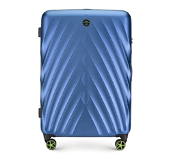 Большой чемодан, голубой, 56-3P-803-91, Фотография 1