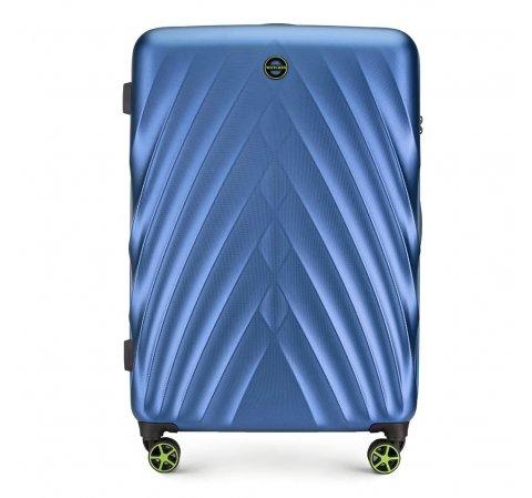 Большой чемодан, голубой, 56-3P-803-10, Фотография 1
