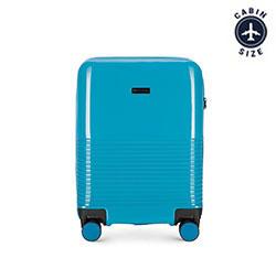 Чемодан ручная кладь, голубой, 56-3H-571-90, Фотография 1