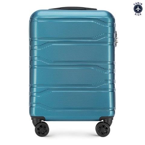 Чемодан ручная кладь, голубой, 56-3P-981-91, Фотография 1