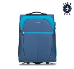 Чемодан ручная кладь, голубой, V25-3S-231-95, Фотография 1