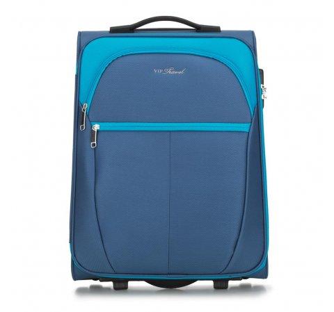 Чемодан ручная кладь, голубой, V25-3S-231-01, Фотография 1