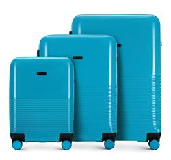 Комплект чемоданов, голубой, 56-3H-57S-90, Фотография 1