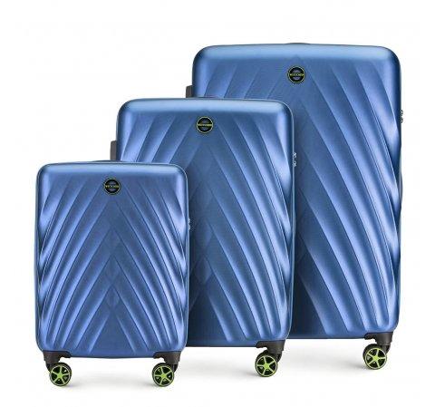 Комплект чемоданов, голубой, 56-3P-80S-10, Фотография 1