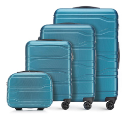 Комплект чемоданов, голубой, 56-3P-98K-96, Фотография 1