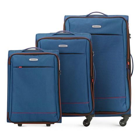 Комплект чемоданов, голубой, 56-3S-46S-12, Фотография 1