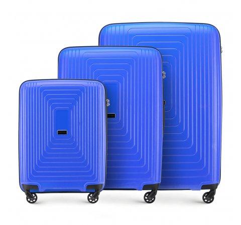 Комплект чемоданов, голубой, 56-3T-78S-30, Фотография 1