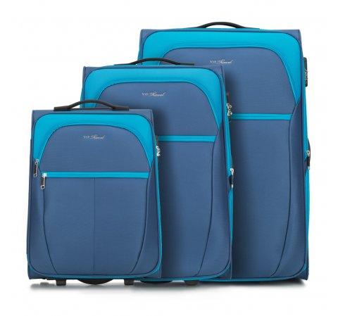 Комплект чемоданов, голубой, V25-3S-23S-31, Фотография 1