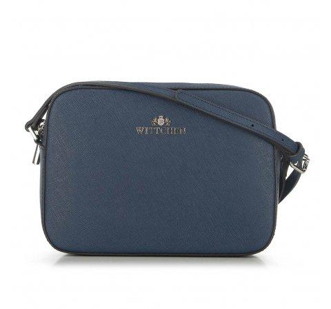 ная сумка-коробочка через плечо, голубой, 29-4E-005-3, Фотография 1