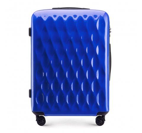 Средний чемодан, голубой, 56-3H-552-90, Фотография 1