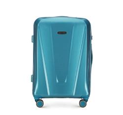 Средний чемодан, голубой, 56-3P-122-95, Фотография 1