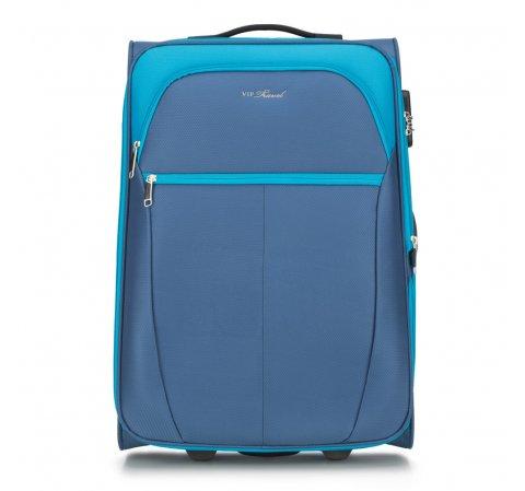 Средний чемодан, голубой, V25-3S-232-01, Фотография 1