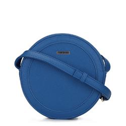 Женская круглая сумка через плечо, голубой, 92-4Y-302-7, Фотография 1
