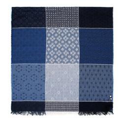 Женский шерстяной шарф в клетку, голубой, 91-7D-X01-X1, Фотография 1