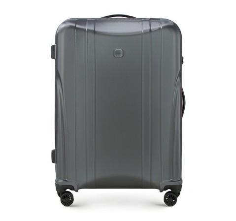 Современный большой чемодан из поликарбоната, графит, 56-3P-913-00, Фотография 1