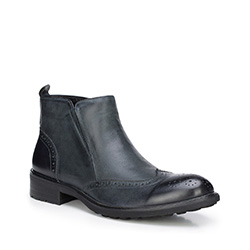 Férfi cipő, fekete-szürke, 87-M-825-8-44, Fénykép 1
