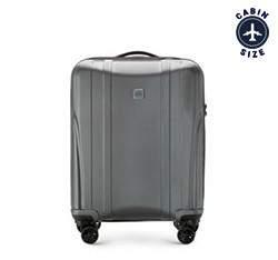 Kabin bőrönd polikarbonát modern, fekete-szürke, 56-3P-911-00, Fénykép 1