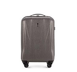 Маленький чемодан  из текстурного поликарбоната, графит, 56-3P-961-70, Фотография 1
